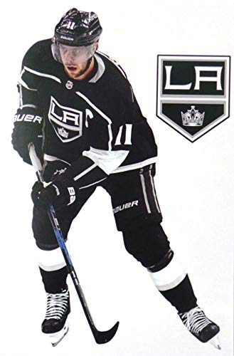 FATHEAD Anze Kopitar Mini Graphic + Los Angeles Kings Logo Official NHL Vinyl Wall Graphics - This Graphic is 7
