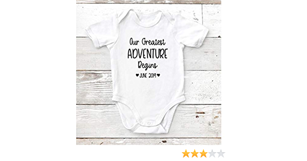 Adventure Onesie\u00ae adventure wanderlust FREE SHIPPING Pregnancy announcement adventure baby baby shower gift Let the adventure begin
