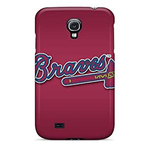 Perfect Cell-phone Hard Covers For Samsung Galaxy S4 (QKy4912BBTY) Provide Private Custom Vivid Atlanta Braves Pictures