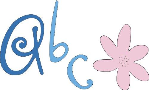 - Cuttlebug Alphabet Die Sets-Curls And Swirls