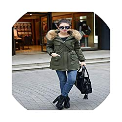Coat Big Fur Hooded Down Parkas Warm Thick Medium Long Jackets Female Outerwear Army Green 4xl
