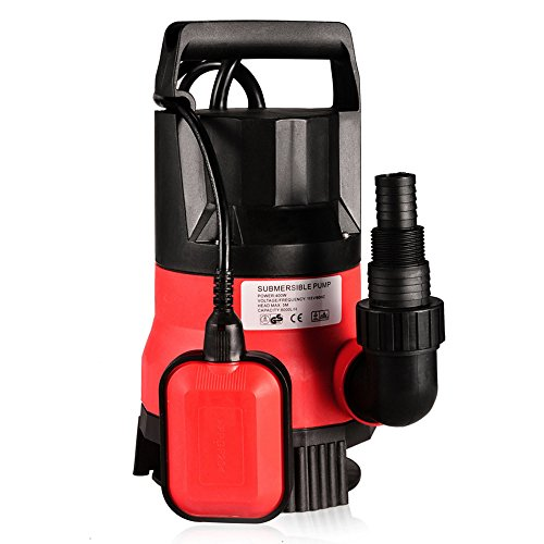 (Homdox Sump Pumps 2112GPH 1/2HP 400W Clean Dirty Submersible Water Pump Swimming Pool Drain (Red))