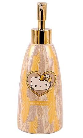 Hello Kitty TCS HK 0282 a Difusor para jabón líquido, cerámica/Metal, Dorado