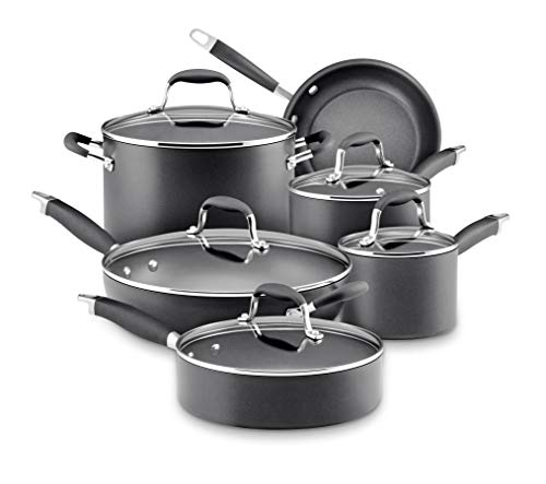 Anolon 82676 Advanced Hard-Anodized Nonstick Cookware Pots and Pans Set