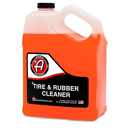 Adams Tire & Rubber Cleaner - Removes Discoloration from Tires Quickly - Works Great on Tires, Rubber & Plastic Trim, and Rubber Floor Mats (1 Gallon)