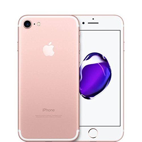 Apple iPhone 7, GSM Unlocked, 32GB - Rose Gold (Renewed) (Pink Straight Talk Phones)