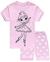 Girls Pajamas Little Kid Shorts Set 100% Cotton Clothes Size 12M-12Y