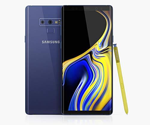 (Samsung Galaxy Note 9 (SM-N960F/DS) 6GB / 128GB (Ocean Blue) 6.4-inches LTE Dual SIM (GSM ONLY, NO CDMA) Factory Unlocked - International Stock No Warranty)