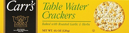 - Carr's Table Water Crackers, Roasted Garlic & Herbs, 4.25-Ounce Boxes (Pack of 6) by Carr's