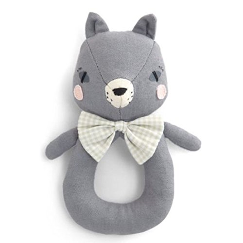 Mamas and Papas Abigail Brown Cat Ring Rattle