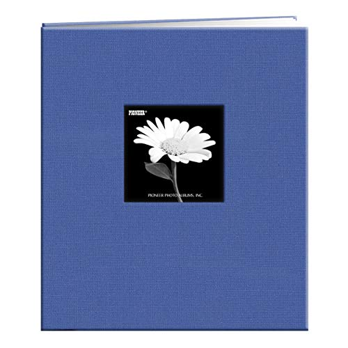 "Pioneer Fabric Frame Post Bound Scrapbook 8.5""X11""-Sky Blue"