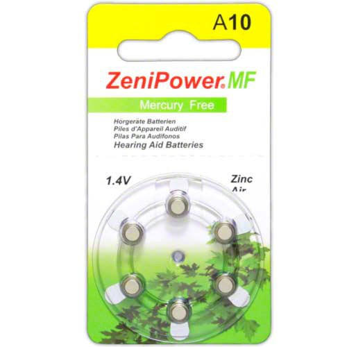 60 ZeniPower Mercury Free Hearing Aid Batteries Size: 10 + Battery Holder Keychain Kit by Zenipower Mercury Free
