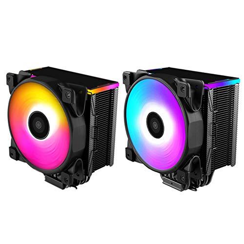 Maserfaliw CPU Fan Cooler Colorful LED Smart Temperature Control CPU Fan Cooling Cooler Radiator Heatsink, Home, Office, School, Professional.