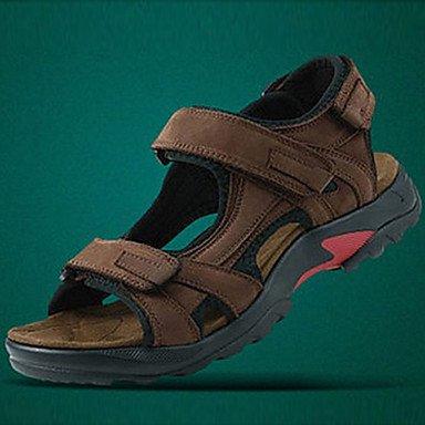 Los zapatos de los hombres plana Slingback sandalias de cuero zapatos de tacón más colores disponibles Brown