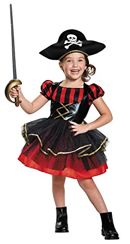 Pirate Mascot Costume (UHC Girl's Preocious Pirate Theme Outfit Toddlar Halloween Fancy Costume, Toddler S 2T)