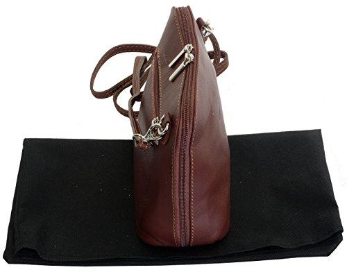 Made Brown Leather Body Micro Mid Hand Bag Primo Bag Small or Italian Cross Sacchi Soft Handbag Shoulder wzXap