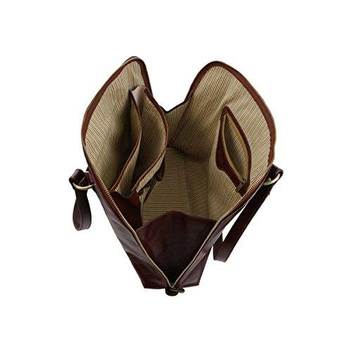 Tuscany Leather - Ravenna - Esclusiva borsa business per donna Rosso - TL141277/4 Testa di Moro