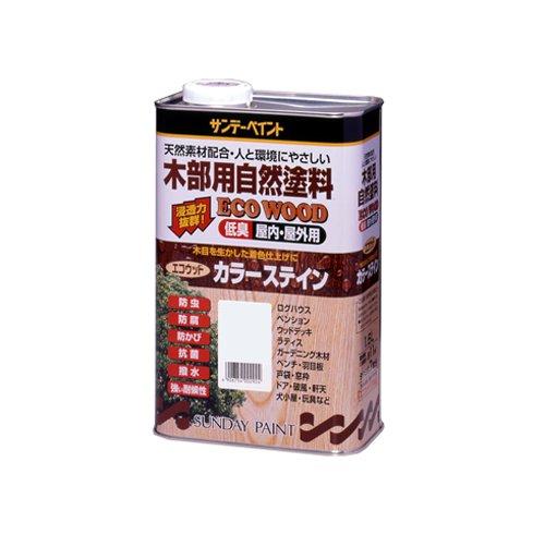 サンデーペイント エコウッドカラーステイン 3.4L オレンジ B005NH08RK 3.4L|オレンジ|ステイン