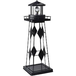 Moonrays 91526 Solar-Powered Rotating LED Lighthouse