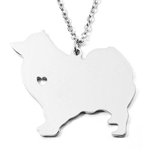 (Samoyed Necklace I Love Heart Samoyed Necklace Dog Necklace, Pet Necklace, Alloy Jewelry)