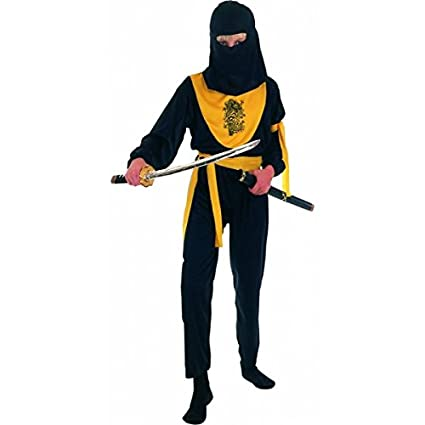 Disfraz amarillo de dragon ninja para niño: Amazon.es ...