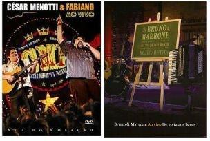 DVD KIT: Cesar Menotti e Fabiano -Voz do Coração & Bruno e Marrone - De Volta aos Bares (Bruno & Marrone De Volta Aos Bares)