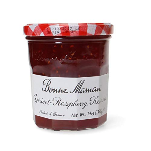 Bonne Maman - Apricot Raspberry Preserves (6-13 oz jars) - Sweet and Earthy