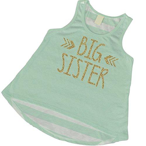 Big Sister Shirt, Trendy Girl Clothes, Big Sister Tank Top (5T)