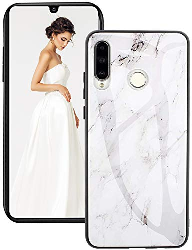 Compatible with Huawei P30 Lite Soft Silicone Black Frame Mobile Phone Case Thin TPU Bumper Cover Case Protective…