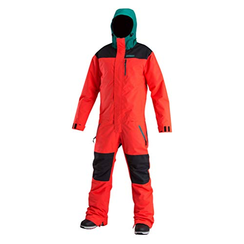 AIRBLASTER Men's Outerwear One Piece Insulated Freedom Suit, GNU Hot Coral, X-Large