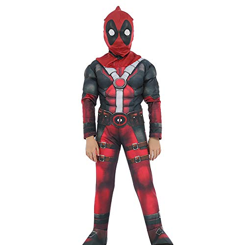 Deadpool Cosplay Halloween Costume Kids Roleplay Boys Outfits Children Superhero Costume Set Red]()