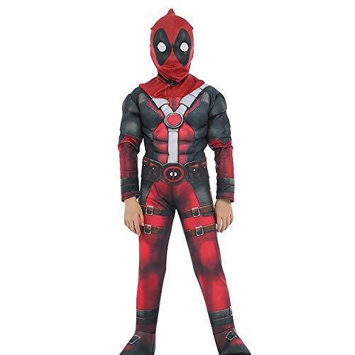 A Halloween Costume For Kids (Deadpool Cosplay Halloween Costume Kids Roleplay Boys Outfits Children Superhero Costume Set)