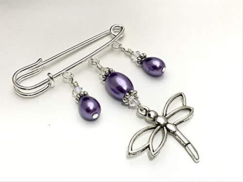 Dragonfly Kilt Style Beaded Pin