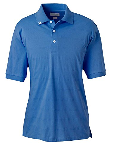 Ashworth 2013 Men's EZ-Tech Jersey Textured Stripe Polo-Short Sleeve Polo-Small-Absolute Blue -