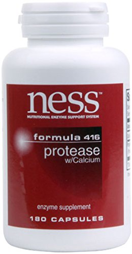 NESS Enzymes - Protease w/ Calcium #416 180 VegiCaps