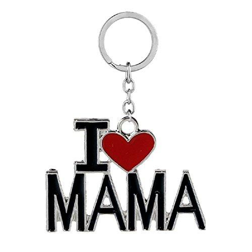 1 Pendant Mama (SAYLAVE Family Pendant Love Keyring Letter Keychain Bag Rings Souvenir Jewelry MAMA)