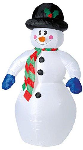 XL Muñeco de nieve hinchable 180 cm con motor ventilador ...