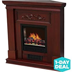 "Classic Electric Fireplace with 38"" Mantle, Dark Cherry by Generic"