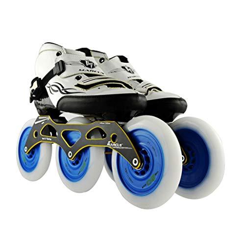 染料特権プラグailj スピードスケート靴3 * 125MM調整可能なインラインスケート、ストレートスケート靴(3色) (色 : Pink, サイズ さいず : EU 46/US 13/UK 12/JP 28cm)