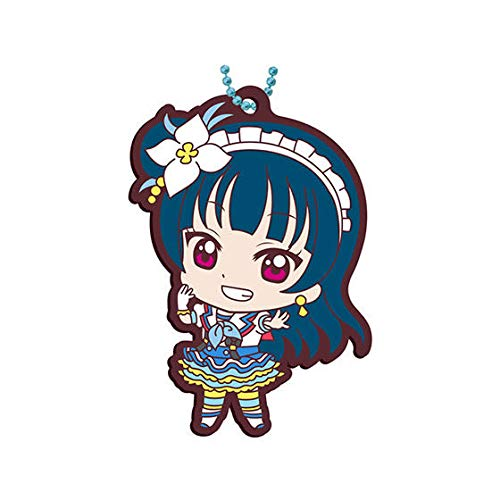 Love Live! Sunshine!! Yoshiko Tsushima Aozora Jumping Heart Ver. Character Gacha Capsule Rubber Key Chain Mascot Collection Vol.13 Anime Girls Art ()