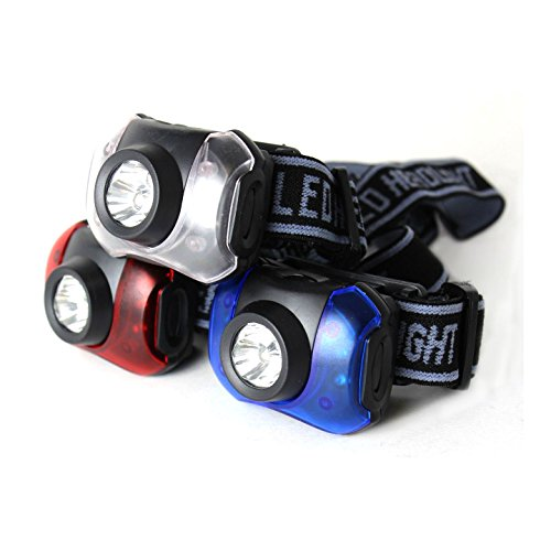Journey's Edge Hands-Free 7-LED Headlamp Camping Flashlights, Pack of 3