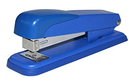 Desk Stapler Grey Heavy Duty Metal Manual Business, Press Down & Staples 20 Sheets Capacity, Easy To Refill and Use! By Mega Stationers