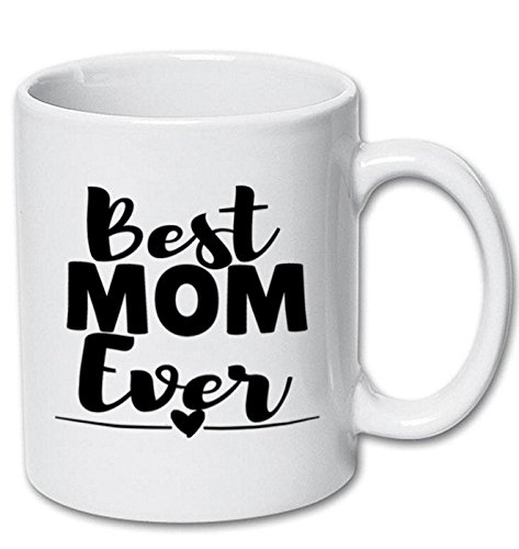 Best Mom Ever Mug Mother's Day Gift from Daughter Son or Kids for Birthday Christmas Gifts Unique Sentimental Present for Wife or Mother Mama - White, Ceramic Smitten by Kristin