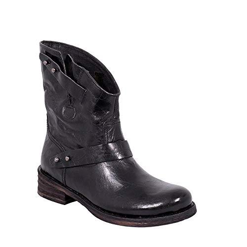 c328f85bd para Negro Zapatos Genuino B333 Cuero Verdy Botas Felmini Biker Cowboy Mujer  Enamorarse com Negro amp  5TRyWcO7.