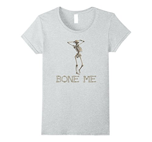 Womens Skeleton Halloween Costume idea funny, Party t-shirt XL Heather (Funny Halloween Party Ideas)
