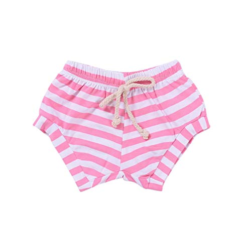 Price comparison product image Pocciol Clearance / Newborn Infant Baby Girls Boys Striped Shorts Summer Bottoms Bloomers (Pink,  3-6 Months)
