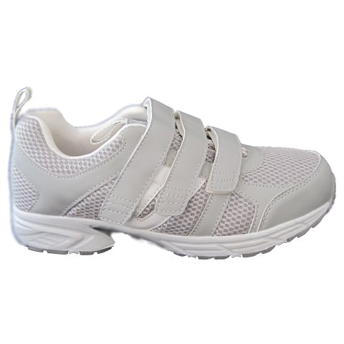 Dr Zen Jordan Womens Comfort Therapeutic Extra Depth Shoe leather/mesh velcro Black/Silver MxMJg
