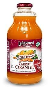 Lakewood Premium Juice, Carrot Orange, 32 Ounce (Pack of 6)