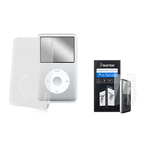 INSTEN Deluxe Clear Snap On Crystal Hard Cover Case with 4 pieces kit Screen Protector Film compatible with Apple iPod classic 80GB / 120GB ()