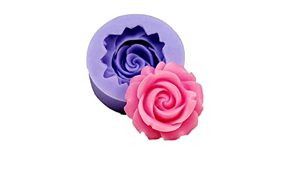 Amazon.com: 3D Mold Silicon - 3D Rose Flower Shape Silicone Soap Mold Form Cake Mold DIY Cake Decoration Soap Making Silicone Mold